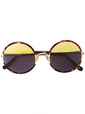 Солнцезащитные очки Yetti в круглой оправе Sunday Somewhere. Цвет: коричневый