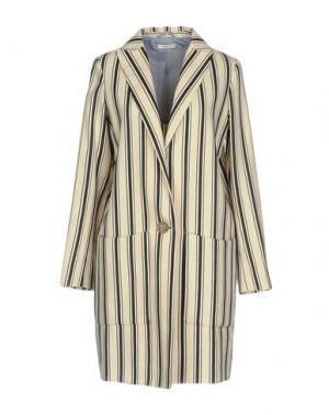 Легкое пальто TRUE TRADITION. Цвет: слоновая кость
