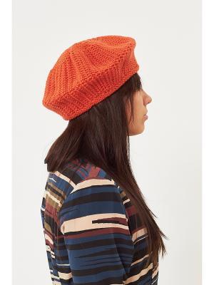 Берет Check Ya Head. Цвет: оранжевый