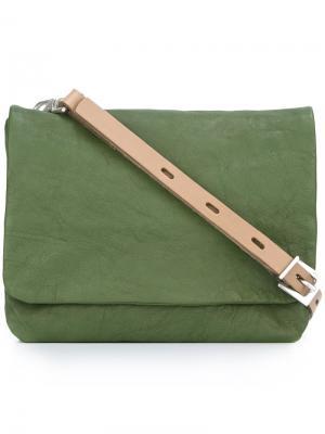 Маленькая сумка через плечо Plum Ally Capellino. Цвет: зелёный