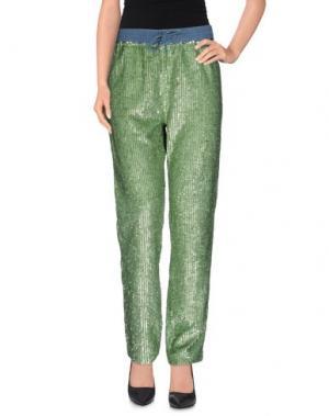 Повседневные брюки MANOUSH. Цвет: светло-зеленый