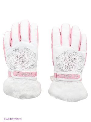 Перчатки Чудо-Кроха. Цвет: розовый, белый, серебристый