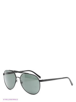 Очки солнцезащитные Versace. Цвет: черный, зеленый