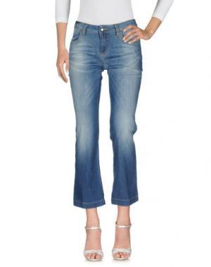 Джинсовые брюки SHAFT. Цвет: синий