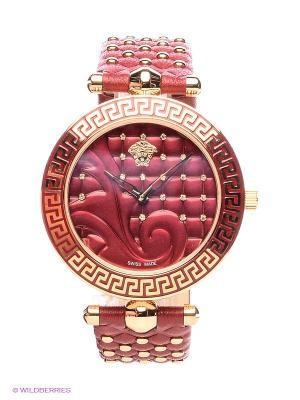 Часы Versace. Цвет: красный, золотистый