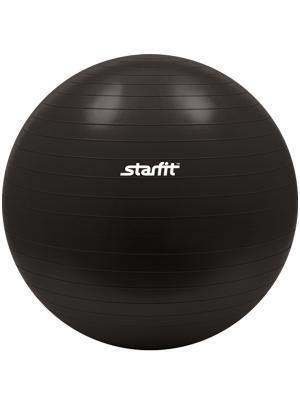 Мяч гимнастический STARFIT GB-101 75 см, черный (антивзрыв) 1/10. Цвет: черный