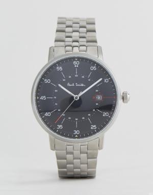 Paul Smith Серебристые часы-браслет с циферблатом диаметром 41 мм P100. Цвет: серебряный