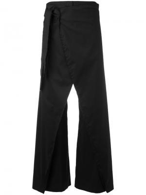 Расклешенные брюки Federica Tosi. Цвет: чёрный