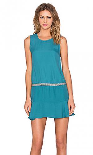 Платье IKKS Paris. Цвет: сине-зеленый
