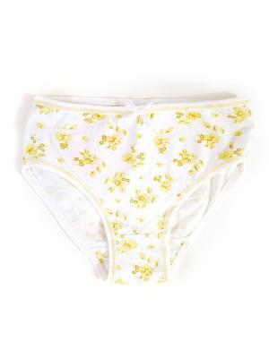 Трусы для девочки La Pastel. Цвет: белый, желтый