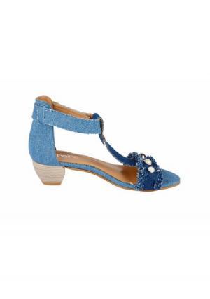 Босоножки Heine. Цвет: джинсовый синий
