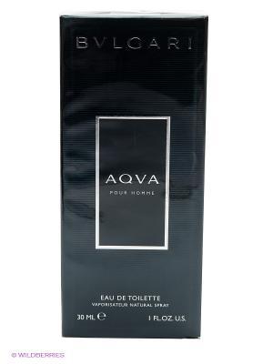 Туалетная вода Aqua Homme, 30 мл BVLGARI. Цвет: темно-серый