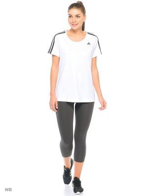 Футболка жен. BASIC 3S TEE Adidas. Цвет: белый