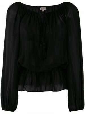 Блузка Gia Talitha. Цвет: чёрный