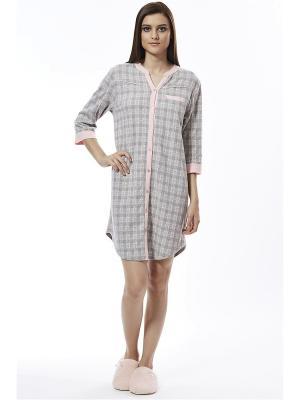 Ночная сорочка RELAX MODE. Цвет: серый