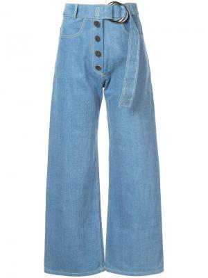 Укороченные джинсы Emily Rejina Pyo. Цвет: синий