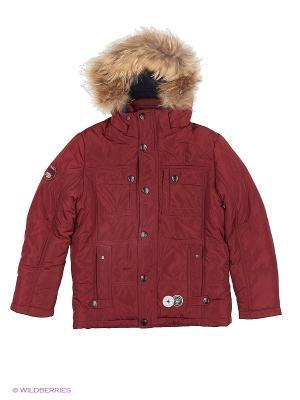 Куртка PurosPoro. Цвет: бордовый