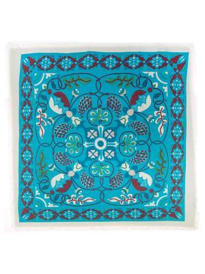 Платок Vita pelle. Цвет: голубой, белый