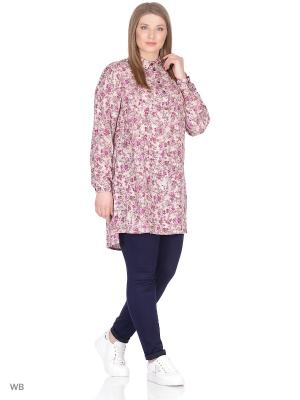 Блузка BARTELLI. Цвет: розовый, фиолетовый