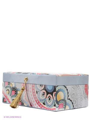 Шкатулка для бижутерии Харуйо Kimmidoll. Цвет: розовый, светло-серый