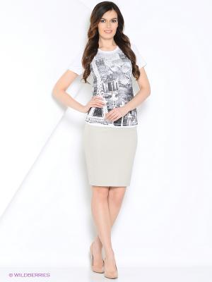 Блуза PRIZZARO. Цвет: молочный, черный