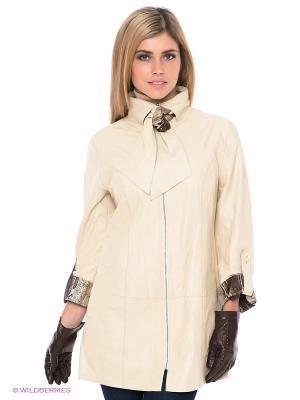 Куртка STEFANO FERRI. Цвет: светло-бежевый