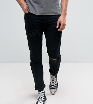 Rollas Черные суженные книзу джинсы Tommy. Цвет: черный