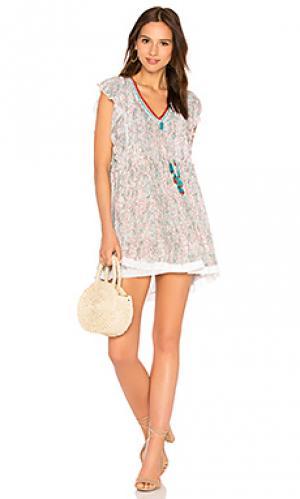 Платье mila Poupette St Barth. Цвет: бирюзовый