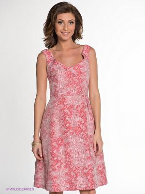 Платье IMAGO. Цвет: коралловый, белый