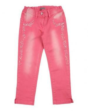 Джинсовые брюки MICROBE. Цвет: фуксия