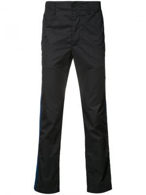 Спортивные брюки с полосками DK Engineered Garments. Цвет: синий
