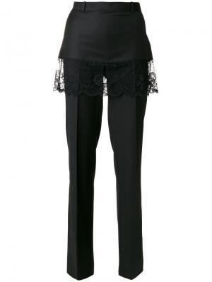 Классические брюки с кружевной юбкой Givenchy. Цвет: чёрный