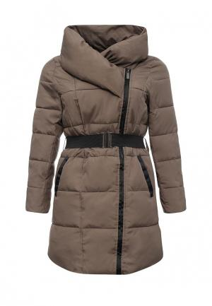 Куртка утепленная Emoi Size Plus. Цвет: бежевый