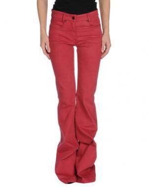 Джинсовые брюки FOURMINDS. Цвет: кирпично-красный