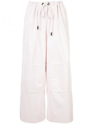 Экстра-широкие брюки Osklen. Цвет: розовый и фиолетовый