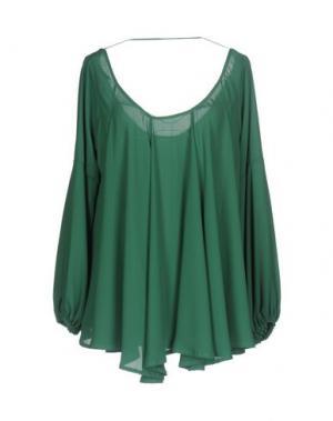 Блузка TRY ME. Цвет: зеленый