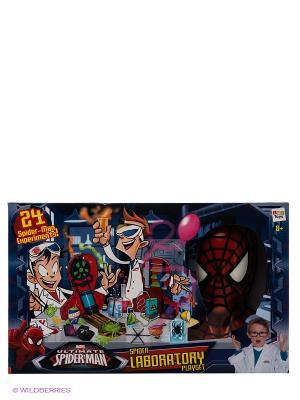 Игровой набор Лаборатория SPIDER-MAN ТМ MARVEL IMC toys. Цвет: темно-синий, красный, белый