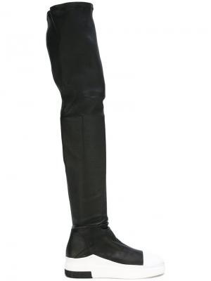 Ботфорты-кроссовки Cinzia Araia. Цвет: чёрный