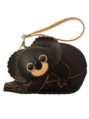 Кошелек ключница Коала темно коричневая Tina Bolotina. Цвет: темно-коричневый