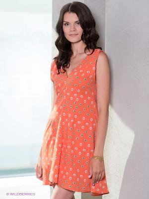 Платье Esley. Цвет: оранжевый