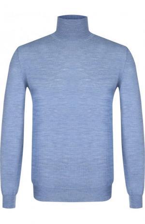 Однотонная шерстяная водолазка TSUM Collection. Цвет: голубой