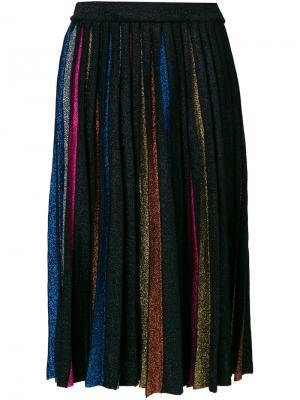 Юбка с контрастной плиссировкой Dodo Bar Or. Цвет: чёрный
