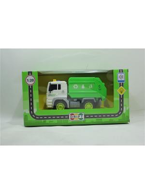 Машина грузовик-мусоровоз Drift. Цвет: белый