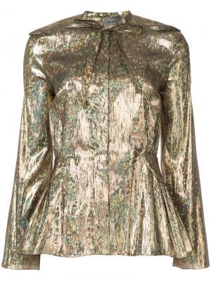 Блузка с эффектом металлик Les Animaux. Цвет: металлический