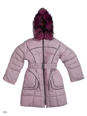 Пальто утепленное для девочки Кантик Пралеска. Цвет: сиреневый