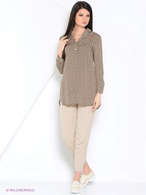 Блузка женская Vis-a-vis. Цвет: коричневый