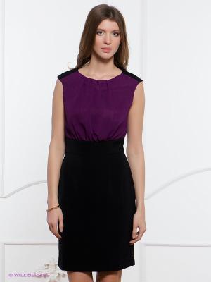 Платье Festival. Цвет: фиолетовый, черный