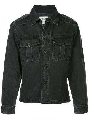 Джинсовая рубашка на пуговицах Kent & Curwen. Цвет: чёрный