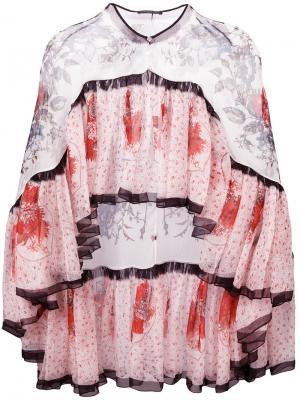 Блузка с узором Alexander McQueen. Цвет: многоцветный