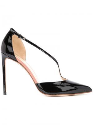 Туфли-лодочки на шпильке Francesco Russo. Цвет: чёрный